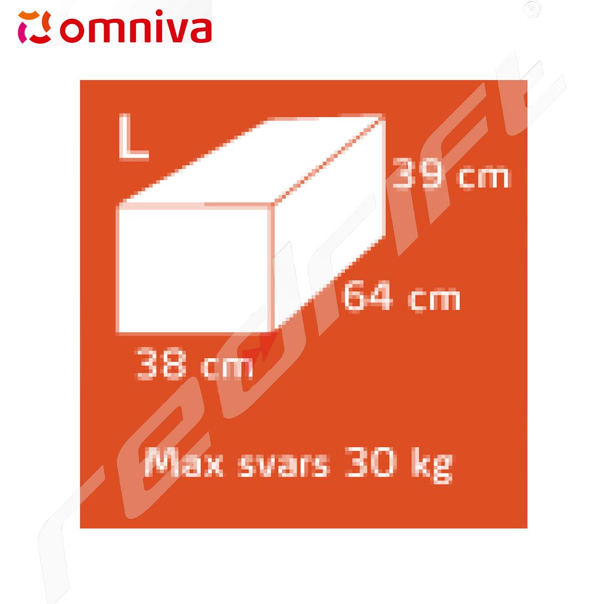 Omniva: Sūtījuma izmērs - L